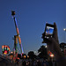 State Fair goer snaps a photo with his smart phone at sunset. Photo by Dylan Winstead