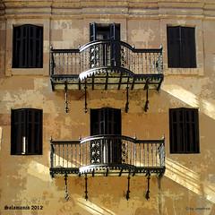 Balcones (josehico) Tags: espaa salamanca fachada metalico world100f nikoncoolpixs210 thechallengefactory sharingart inspiredchoice josehico fachadasconencanto2dconcurso30