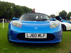 Tesla (BenGPhotos) Tags: auto show blue london sports car sport electric chelsea cal american 25 legends tesla 2012 roadster lj60mlf
