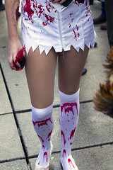 (-- brian cameron --) Tags: woman toronto sexy monster female walking dead blood legs makeup horror undead nurse uniforms bloody canon50mmf18 corpse zombies zippers gory nathanphillipssquare livingdead reanimated walkingdead zombiewalk tzw 550d reanimatedcorpse bloodsplatter torontozombiewalk2012 10thannualtorontozombiewalk