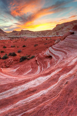 Sunset On The Wave (James Marvin Phelps) Tags: sunset valleyoffire photography sandstone desert nevada ngc redrock mojavedesert overton valleyoffirestatepark firewave hdrphotography mandj98 jmpphotography jamesmarvinphelps