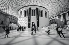 London (vulture labs) Tags: light people blackandwhite bw white black building london nikon shadows interior britishmuseum greathall d700 1424mm