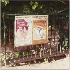 paris-2012 (♥beryl) Tags: light shadow plants paris france leaves sign stone forest square gate earth playbill squarecrop boisdeboulogne radlab nikond90