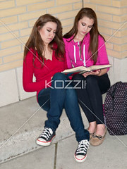 pretty teenage girls studying together (elisapeople2012) Tags: friends girl beautiful beauty modern female bag reading book togetherness concentration student education pretty sitting friendship fulllength teenagers learning companion studying twopeople casualwear preparations bonding teamwork caucasian schoolbag companionship youthculture casualclothing universitystudent 1617years teenagersonly legscrossedatknee onlygirls personineducation secondaryschoolchild teenagegirlsonly personinfurthereducation
