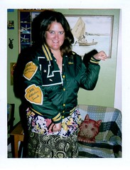 Lane Tech Letterman Jacket (EllenJo) Tags: nerd polaroid highschool 1980s schoolspirit landcamera lanetech pastlife chicagopublicschools classof1989 fujifp100c age40 ellenjo lanetechnicalhighschool bornin1972 ellenjoroberts wearesexywearefinewearetheclassof89 golanego polaroidpathfinder rollfilmcameraconvertedtopackfilm convertedpathfinder befearlessandboldforthemyrtleandthegold addlaurelstoourfame