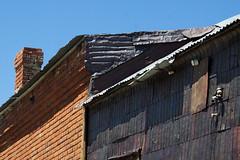 Corrugation (lefeber) Tags: california wood chimney house abandoned grass architecture town rust mine shadows decay bricks roadtrip worn ghosttown weathered shack bodie ruraldecay corrugated corrugatedmetal rustymetal metalshingles tincanshingles