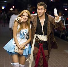 Drunk Jack Sparrow with Alice in Wonderland (San Diego Shooter) Tags: portrait halloween sandiego streetphotography halloweencostumes downtownsandiego costumeideas sexyhalloween sexyhalloweencostumes sandiegostreetphotography sandiegohalloween halloween2012 sandiegohalloween2012 2012halloweencostumes