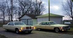 1976 Buick Electra Park Avenue & 1978 Chrysler New Yorker Brougham (DVS1mn) Tags: park new cars hardtop car yellow boat buick big gm 4 banana ave seventy 1978 chrysler mopar avenue six 78 luxury eight 440 1976 electra mycar nineteen 76 yorker generalmotors brougham wpc bbl walterpchrysler 4door chryslercorporation nineteenseventyeight nineteenseventysix chryslernewyorkerbrougham