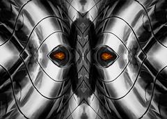 Metallic sight! (radonracer) Tags: symmetry fantasy digiart metall symmetrie radonart