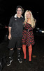 Danny Baker and his daughter leaving a Halloween party held at the home of television presenter Jonathan Ross. London, England
