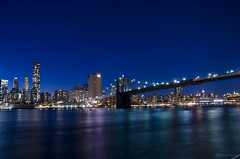 The Bridge by Night (Jani Foeldes) Tags: new york city bridge usa building brooklyn photography nikon long exposure state d manhattan empire nikkor 18105 jmk 7000