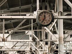 (ArchitecturalAfterlife) Tags: ohio urban abandoned clock stairs photography factory decay cleveland architectural atlas exploration afterlife urbex