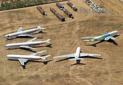 Boeing 707's in storage (Flame1958) Tags: 2005 boeing americaneagle 707 usaf dm twa boeing707 b707 davismonthan 0705 davismonthanafb 170705 transworldairlines dmafb americaneagleairlines n18713 n28714
