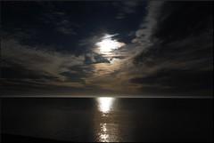 (Marie EG) Tags: ocean winter sky sun sunlight reflection water clouds skne sweden january sdersltt d3000