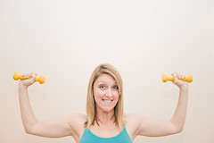 burn (dailyweekley) Tags: muscles yellow workout biceps weights dumbbells gettingstronger