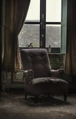 Solitude ( explore ) (andre govia.) Tags: building bird abandoned window buildings kent chair solitude decay best creepy urbanexploration horror mission ue seclusion rotton uebex curtens andregovia
