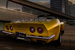 """Ray of sunshine"" (Neil Banich Photography) Tags: cars chevrolet car yellow automobile corvette artcar hotrods roadster convertable autoart 1969corvette carscool picturescool neilbanichphotograhy imagescool hotrodscorvette"