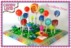 Lollipop Forest (Candy Land) (Siercon and Coral) Tags: game forest rainbow lego lollipop candyland moc princesslolly