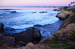 """""""I will Put you in a Cleft in the Rock..."""" (Art4TheGlryOfGod) Tags: ocean california sunset sandiego lajolla palmtrees pacificocean searocks pinkbluepurple 4thglryofgod"""