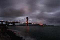 Overcast and Golden Lights (Andrew Louie Photography) Tags: bridge winter love lights golden gate san francisco soft candles moody overcast romance