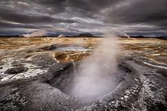 Inferno (andywon) Tags: travel vacation sky nature clouds landscape island lava iceland alien hell steam smell sulfur mordor krafla hverir hverarönd gheothermal ☆thepowerofnow☆