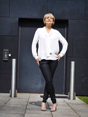 Styling a basic white top and denim: Marks & Spencer challenge - Nikki, Midlife Chic (Not Dressed As Lamb) Tags: white fashion blog top style blogger marks denim spencer fashionista
