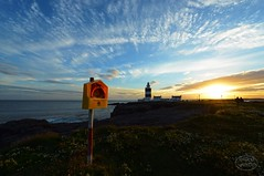 Hook Lighthouse (MaiGoede) Tags: lighthouse leuchttrme landscape landschaft sunset sunsetmood irland ireland nikon summertime summer