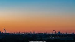 The view tonight (robvanderwaal) Tags: industrialarea zonsondergang sunset eveninglight avond industry 2016 avondlicht rvdwaal maasvlakte robvanderwaalphotographycom kranen kraan containerterminal crane cranes containers voorneputten industrie evening voorne harbour haven