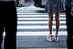 zebra (sinkdd) Tags: carlzeissplanart1485 nikon nikond800 planar carlzeiss 85mm f14 tokyo japan shinjuku street steetsnap streetphotography crossing trafficcrossing zebra legs mulesandals