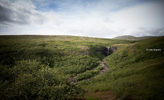 Svartifoss, South Iceland (monsieur I) Tags: basalt europe iceland icelandic longshutterspeed monsieuri nature roadtrip skaftafell stones summer svartifoss travel water waterfall