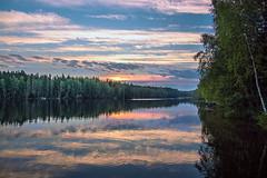 The Early Morning Colours (tiitkbi) Tags: lake morning sunrise finland