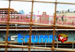 trump? (ekelly80) Tags: newyork newyorkcity nyc brooklyn august2016 summer walk williamsburg williamsburgbridge graffiti trump like view bridge