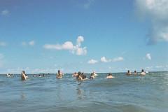 More folks enjoying the water (andrewkatchen) Tags: asburypark newjersey jerseyshore beach ocean nikon film 35mm portra400 n6006