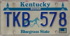 TKB 578 (JohnathanBaker) Tags: kentucky license plate