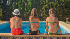 Happy world's photography day in family (lilcris) Tags: swimmingpool girls family green blue outdoor women grass mujeres piscina verde azul agua water csped bao familia picture nikon d5100