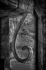 Something to hang your hat on (donnieking1811) Tags: hook bw mantle hearth