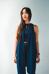Vanessa Nguyen! (jonathanlam1993) Tags: fashion nessngyn model asian natural light studio eyes dress bluedress