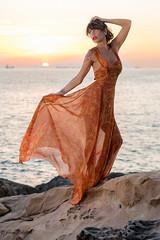 web-4469 (digifiore) Tags: calafuria mare sabrinadelfio abito costume moda modella scoglio tramonto vestito modelo sexy chica glamour mar acantilado livorno traje modle girl mer falaise livourne model sea cliff