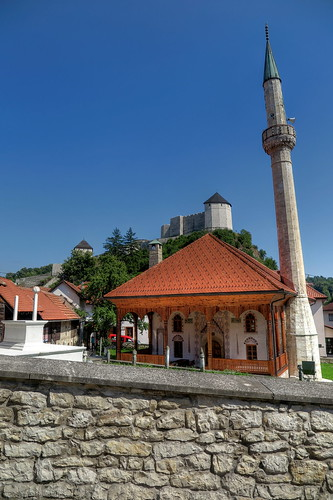 Tesanj - historic Mosque & Fortress