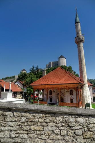 Tesanj - historic Mosque & Fortress