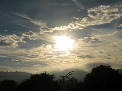 Morning mist on the hills (rospix+) Tags: rospix 2016 august wales uk nature countryside sky clouds hills trees sun