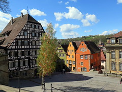 Historic city center of Schwbisch-Hall in Baden-Wrttemberg (Sokleine) Tags: citycentre historic heritage houses maisons schwbischhall badenwrttemberg germany deutschland allemagne colombages maisonscolombages
