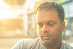 Portrait of Rishi (tommyferraz) Tags: portrait surinamese guy friend dutch amsterdam light flare sunset