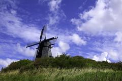 Windmill (LaDani74) Tags: denmark danmark lokken summer windmill nature sky travel scandinavia jutland grass bush vegetation hill