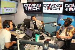 Edi Gathegi with Covino & Rich (covinoandrich) Tags: covino rich show siriusxm satellite radio studio celebrity interview edi gathegi blacklist crackle startup twilight nbc