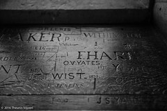Top Schools (Theunis Viljoen LRPS) Tags: graffiti shrewsbury shrewsburylibrary shrewsburyschool topschools carvings names windowsill