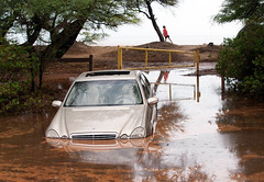 Someone is having a bad day (brodrock) Tags: mercedes mercedesbenz flood maui ukumehame beach