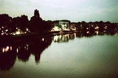 Reflect. (Paul_Munford) Tags: film grain analogue night lowlight minolta minoltax700 mcrokkor58mm 14 london kewbridge reflection riverthames rollei chrome cr200