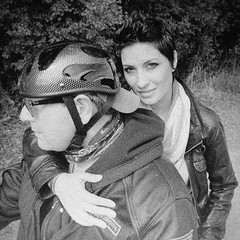 ~ easy rider (Mackeson) Tags: mackeson portrait film grain harleydavidson sauvieisland