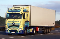 Mercedes Actros new look 12-MH-2465 (gylesnikki) Tags: ireland irish truck international artic mp4 2012 m20 caffrey